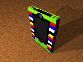 iPhone的乐高手机模型